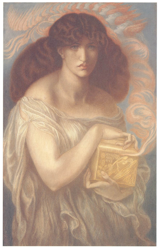 Dante Gabriel Rossetti – Pandora [from Winthrop Collection of the Fogg Art Museum]