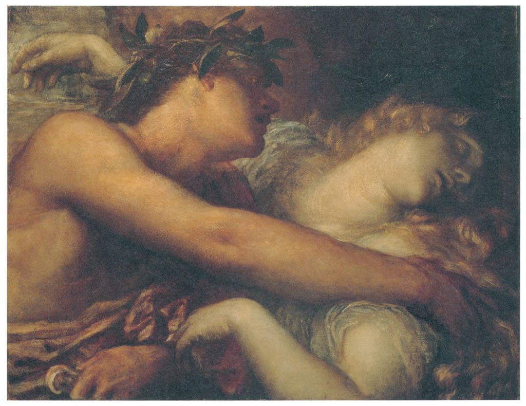George Frederic Watts – Orpheus and Eurydice [from Winthrop Collection of the Fogg Art Museum]
