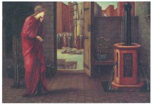エドワード・バーン=ジョーンズ – 真鍮の塔が建設されるのを見るダナエ [ウィンスロップ・コレクション フォッグ美術館所蔵19世紀イギリス・フランス絵画 より]のサムネイル画像