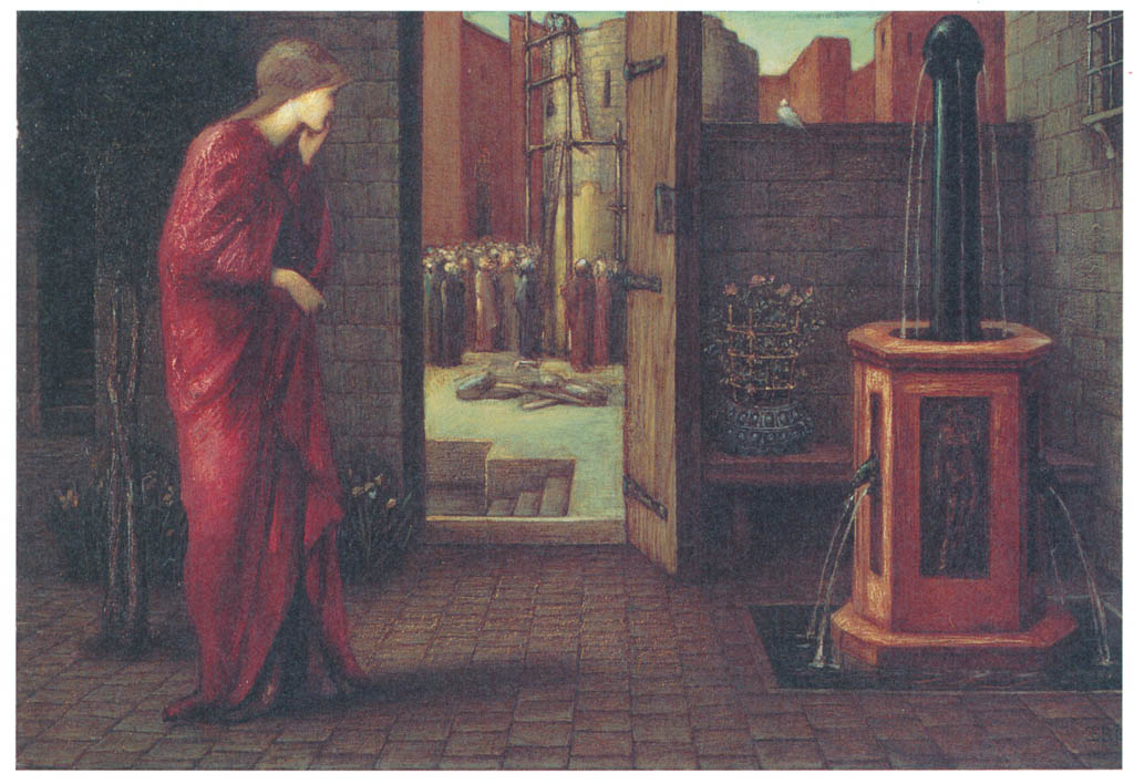 Edward Burne-Jones – Danaë Watching the Building of the Brazen Tower [from Winthrop Collection of the Fogg Art Museum]
