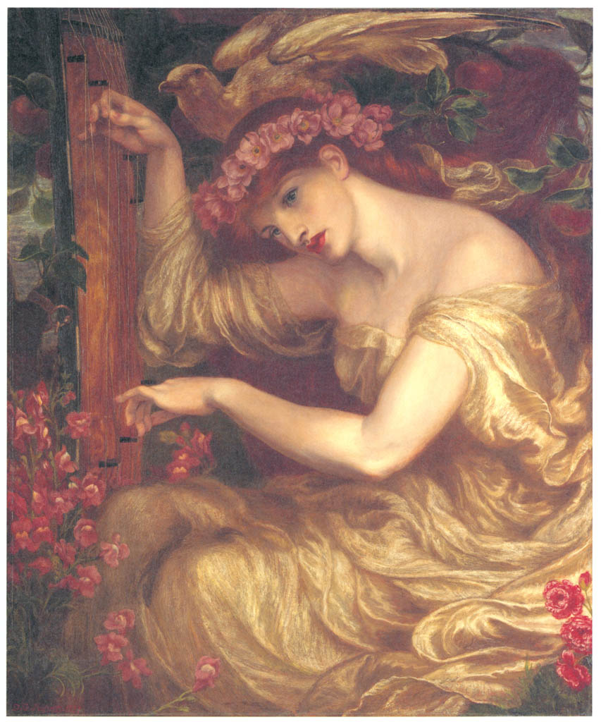 Dante Gabriel Rossetti – A Sea Spell [from Winthrop Collection of the Fogg Art Museum]