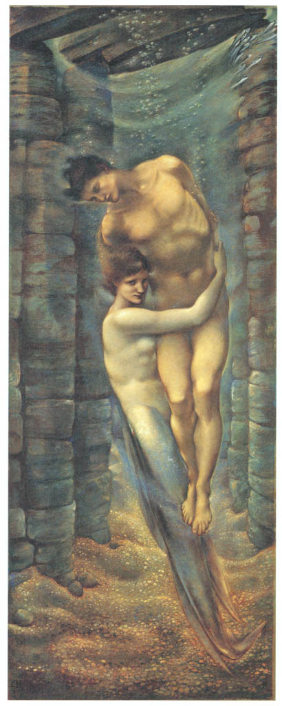 Edward Burne-Jones – The Depths of the Sea [from Winthrop Collection of the Fogg Art Museum]