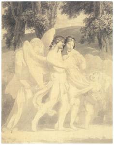 ピエール=ポール・プリュードン – 愛が無垢を誘惑し、快楽が導き、悔恨が続く [ウィンスロップ・コレクション フォッグ美術館所蔵19世紀イギリス・フランス絵画 より]のサムネイル画像