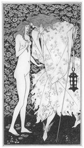 thumbnail Aubrey Beardsley – The Mysterious Rose Garden [from Winthrop Collection of the Fogg Art Museum]