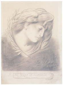 thumbnail Simeon Solomon – The Sleep of Remorse [from Winthrop Collection of the Fogg Art Museum]