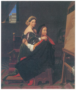 ジャン=オーギュスト=ドミニク・アングル – ラファエロとラ・フォルナリーナ [ウィンスロップ・コレクション フォッグ美術館所蔵19世紀イギリス・フランス絵画 より]のサムネイル画像