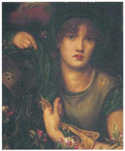 ダンテ・ゲイブリエル・ロセッティ – マイ・レディ・グリーンスリーヴス [ウィンスロップ・コレクション フォッグ美術館所蔵19世紀イギリス・フランス絵画 より]のサムネイル画像