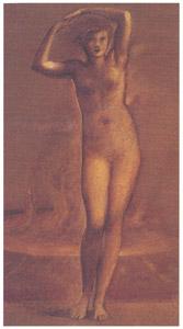 エドワード・バーン=ジョーンズ – トロイアのヘレネ [ウィンスロップ・コレクション フォッグ美術館所蔵19世紀イギリス・フランス絵画 より]のサムネイル画像