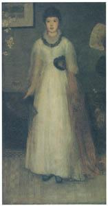 ジェームズ・マクニール・ホイッスラー – 灰色と桃色のハーモニー [ウィンスロップ・コレクション フォッグ美術館所蔵19世紀イギリス・フランス絵画 より]のサムネイル画像