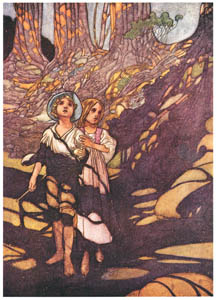 thumbnail Charles Robinson – Hansel and Grethel in the forest. [from The Fantastic Paintings of Charles & William Heath Robinson]