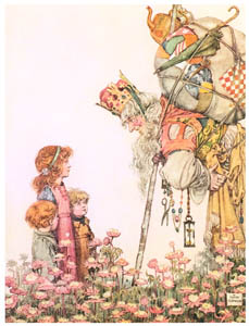 thumbnail William Heath Robinson – The King of Troy compelled to ask his way (Bill the Minder) [from The Fantastic Paintings of Charles & William Heath Robinson]