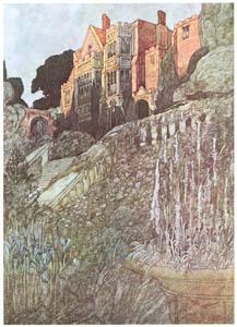 チャールズ・ロビンソン – 四つの庭園の挿絵 [The Fantastic Paintings of Charles & William Heath Robinsonより]のサムネイル画像