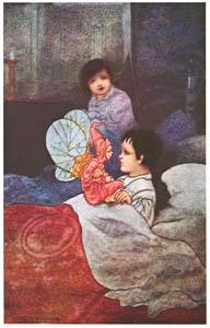 チャールズ・ロビンソン – マーガレットの本の挿絵1 [The Fantastic Paintings of Charles & William Heath Robinsonより]のサムネイル画像