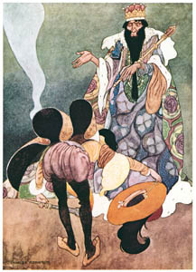 "thumbnail Charles Robinson – ""Let the fireworks begin,"" said the King. (The Remarkable Rocket) [from The Fantastic Paintings of Charles & William Heath Robinson]"