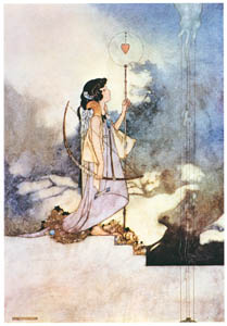 thumbnail Charles Robinson – In the court of love. (The Songs and Sonnets of William Shakespeare) [from The Fantastic Paintings of Charles & William Heath Robinson]