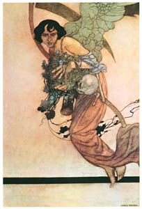 thumbnail Charles Robinson – I will be true, despite thy scythe and thee (The Songs and Sonnets of William Shakespeare) [from The Fantastic Paintings of Charles & William Heath Robinson]