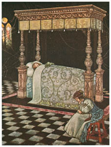 thumbnail William Heath Robinson – The most beautiful sight he had ever seen. (Old Time Stories by Charles Perrault) [from The Fantastic Paintings of Charles & William Heath Robinson]
