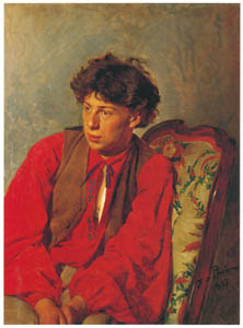 thumbnail Ilya Repin – Portrait of Vasily E. Repin [from Ilya Repin: Master Works from The State Tretyakov Gallery]