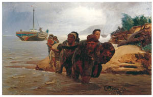 thumbnail Ilya Repin – Barge Haulers Crossing a Ford [from Ilya Repin: Master Works from The State Tretyakov Gallery]