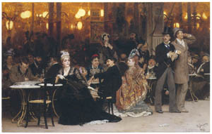 thumbnail Ilya Repin – A Parisian Cafe [from Ilya Repin: Master Works from The State Tretyakov Gallery]