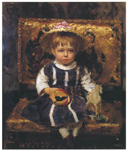 thumbnail Ilya Repin – Portrait of Vera I. Repina in Her Childhood [from Ilya Repin: Master Works from The State Tretyakov Gallery]