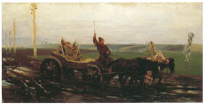 thumbnail Ilya Repin – Under Guard: Along the Muddy Road [from Ilya Repin: Master Works from The State Tretyakov Gallery]