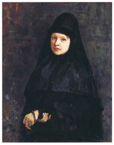 thumbnail Ilya Repin – A Nun [from Ilya Repin: Master Works from The State Tretyakov Gallery]