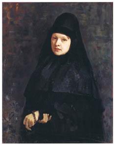 イリヤ・レーピン – 修道女 [国立トレチャコフ美術館所蔵 レーピン展より]のサムネイル画像