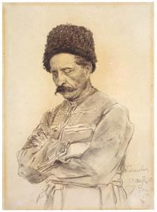 thumbnail Ilya Repin – Cossack Vasily V. Tarnovsky [from Ilya Repin: Master Works from The State Tretyakov Gallery]