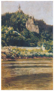thumbnail Ilya Repin – View of the Svyatogorsky Uspensky Monastery  (the Assumption Monastery at the Holy Mountain) on the Severny Donels River [from Ilya Repin: Master Works from The State Tretyakov Gallery]
