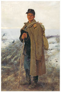 イリヤ・レーピン – 故郷へ – 過ぎ去った戦争の英雄 [国立トレチャコフ美術館所蔵 レーピン展より]のサムネイル画像