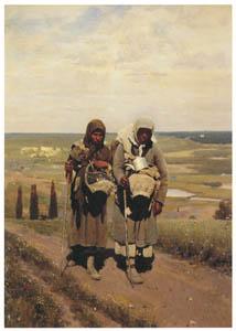 イリヤ・レーピン – 巡礼者たち [国立トレチャコフ美術館所蔵 レーピン展より]のサムネイル画像