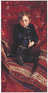 イリヤ・レーピン – 少年ユーリー・レーピンの肖像 [国立トレチャコフ美術館所蔵 レーピン展より]のサムネイル画像