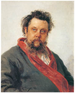 thumbnail Ilya Repin – Portrait of the Composer Modest P. Mussorgsky [from Ilya Repin: Master Works from The State Tretyakov Gallery]