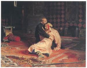 イリヤ・レーピン – 1581年11月16日のイワン雷帝とその息子イワン [国立トレチャコフ美術館所蔵 レーピン展より]のサムネイル画像