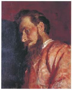 イリヤ・レーピン – 画家ウラジーミル・メンクの肖像 [国立トレチャコフ美術館所蔵 レーピン展より]のサムネイル画像