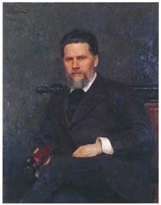 イリヤ・レーピン – 画家イワン・クラムスコイの肖像 [国立トレチャコフ美術館所蔵 レーピン展より]のサムネイル画像