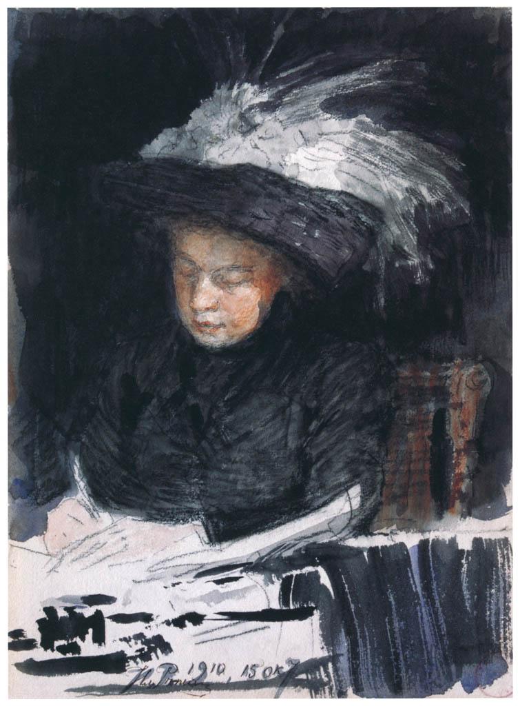 イリヤ・レーピン – ナターリヤ・ノルドマン=セーヴェロワの肖像 [国立トレチャコフ美術館所蔵 レーピン展より] パブリックドメイン画像