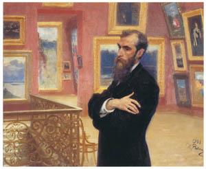 thumbnail Ilya Repin – Portrait of Pavel M. Tretyakov [from Ilya Repin: Master Works from The State Tretyakov Gallery]