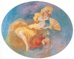 thumbnail Jules Chéret – La Femme à l'Éventail [from Jules Chéret]