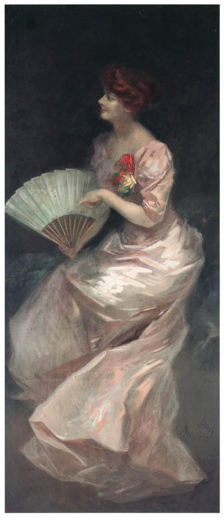 ジュール・シェレ – ヴィッタ男爵夫人の肖像 [ジュール・シェレ展より] パブリックドメイン画像