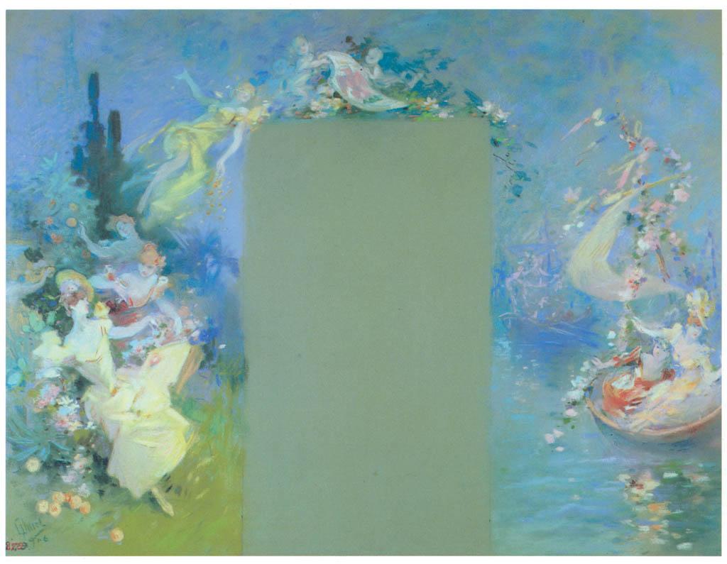 ジュール・シェレ – 花の海戦 [ジュール・シェレ展より] パブリックドメイン画像