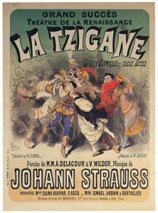 thumbnail Jules Chéret – Tzigane, opéra-comique, musique de J. Strauss. Théâtre de la  Renaissance [from Jules Chéret]