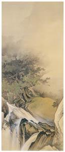 川合玉堂 – 奔瀑遊猿 [没後50年 川合玉堂展:時を越えよみがえる日本の自然より]のサムネイル画像