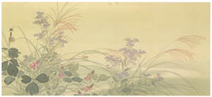thumbnail Kawai Gyokudō – Autumn Grass [from The Exhibition of Kawai Gyokudō in memory of the 50th anniversary after his death]