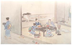 川合玉堂 – 清風涼波 (部分2) [没後50年 川合玉堂展:時を越えよみがえる日本の自然より]のサムネイル画像