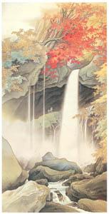 thumbnail Kawai Gyokudō – Urami Waterfall, Nikko [from The Exhibition of Kawai Gyokudō in memory of the 50th anniversary after his death]