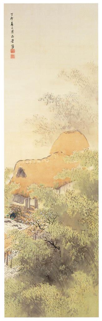 川合玉堂 – 竹渓浅春 [没後50年 川合玉堂展:時を越えよみがえる日本の自然より] パブリックドメイン画像