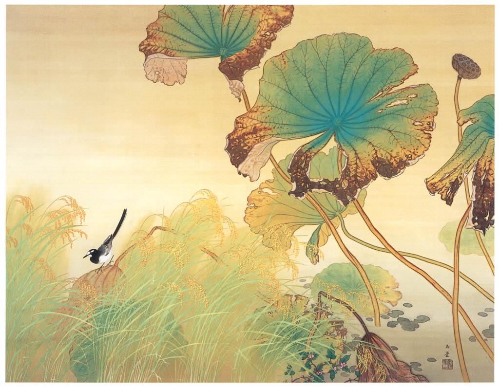 川合玉堂 – 小春 [没後50年 川合玉堂展:時を越えよみがえる日本の自然より] パブリックドメイン画像