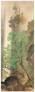 川合玉堂 – 緑陰懸瀑 [没後50年 川合玉堂展:時を越えよみがえる日本の自然より]のサムネイル画像